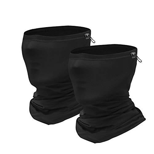 Sheenwang Adjustable Neck Gaiter, Cooling Face Cover, Breathable Neck Mask for Men, Women (2 Pack)