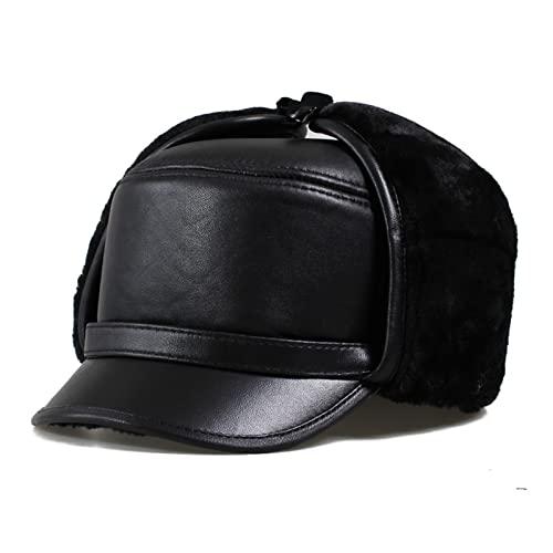 HAPPY-BELT Gorra Béisbol con Orejeras, Sombreros De Bombardero con ala Sombrero Cálido Gorra De Béisbol Plana Gruesa - para Otoño Invierno