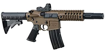 Bushmaster BMPWX Full Auto MPW CO2-Powered BB Air Rifle With Dual Action Capability And Red Dot Sight Black/FDE