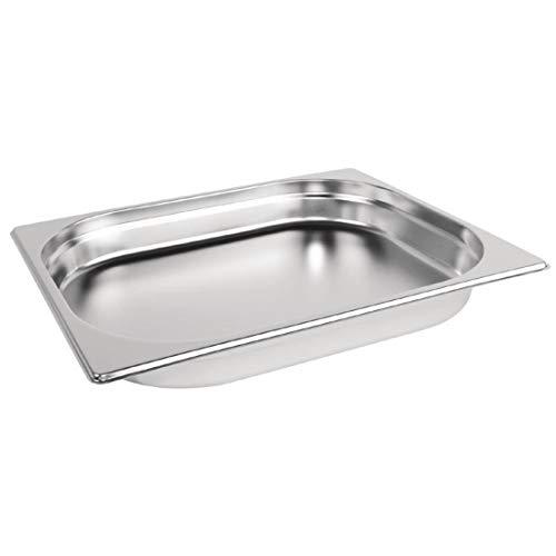 Vogue K925 en acier inoxydable 1/2 Gastronorm Pan, 40 mm