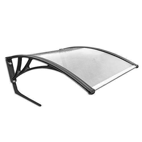 MCTECH® Carport für Mähroboter, Garage für Rasenmäher Roboter, Polycarbonat Regenschutz Sonnenschutz Pultvordach Dach Haustürvordach