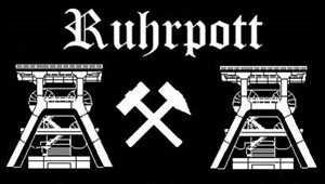 Patch Ruhrpott schwarz Aufnäher Aufbügler Fussball Grösse ca. 5,5 x 9cm
