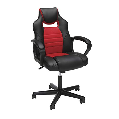 OFM Essentials Collection Racing Style Gaming Chair, in Red (Make Upholstered Chair)