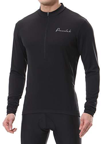 Przewalski Maillot de ciclismo para hombre, para exteriores, camiseta de manga larga,...