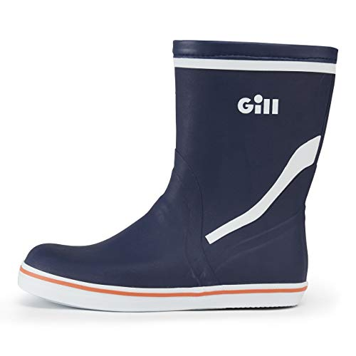 Gill Men's Fishing Sailing Waterproof Short Coastal Rubber Boots, Dark Blue, Size 10