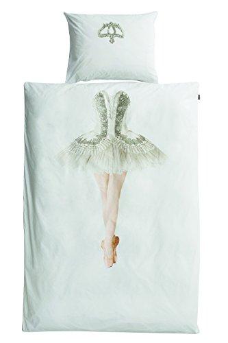 Snurk Dreaming Ballerina beddengoed eenpersoonsbed percale met middendruk wit
