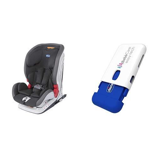 Chicco Youniverse Fix Seggiolino Auto 9-36 kg, Gruppo 1/2/3 per Bambini da 1 ai 12 Anni, Reclinabile, Nero + Bebecare Easy-Tech Sistema...