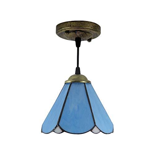 Antike Hängeleuchte im Tiffany-Stil, Vintage, Lotusblatt, Hängelampe für Küche, Esszimmer oder Wohnzimmer