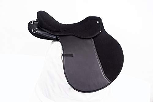 ZAIN TACK Synthetic Endurance Saddle MIT Equi Suede SEAT 43,2 cm SCHWARZ