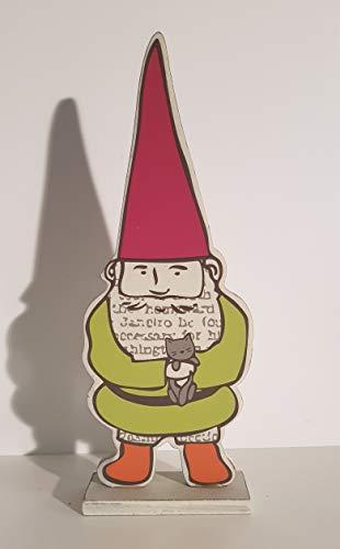 Drescher GmbH Dekorativ figur Vichtelmann trädgårdsstår uppställning grön ca 35 x 13 cm MDF