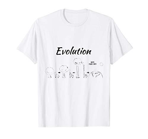 Giraffe - Giraffen - Design mit Evolution witzige Giraffe T-Shirt