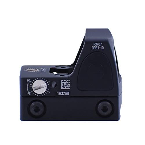Tactical RMR Red Dot Sight, Mini 2 Moa Red Dot Sight, Adjustable Reflex Red Dot Sight, 20mm Reflex Sight Pistol Handgun Shunting Red Dot Leuchtpunktvisier Rotpunktvisier für Jagd Softair Pistole