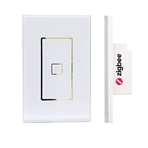110-240V Smart ZigBee Light Switch compatible with Echo Plus, Hue Bridge, SmartThings, Lightify ZigBee Hub to Control Normal Lights, Home Automation and Voice Control