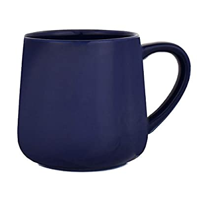 Bosmarlin Glossy Ceramic Coffee Mug, Tea Cup for Office and Home, 18 oz, Suitable for Dishwasher and Microwave, 1 Pack (Royal Blue)