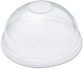 SOLO Cup Company Ultra Clear Dome Cold Cup Lids f/16-24 oz Cups, PET, 100/Pack