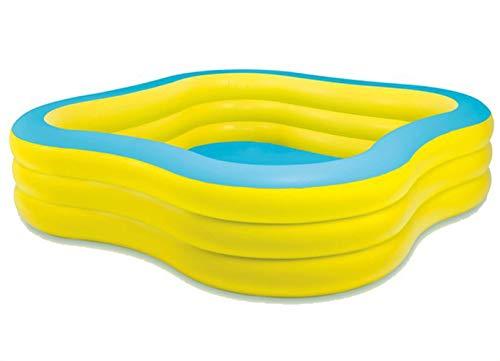 Thole Piscina En Forma De Ciruela Piscinas De Jardin para NiñOs Plastico Familia Piscina De Ocio con Bomba De Pie 229x229x56cm