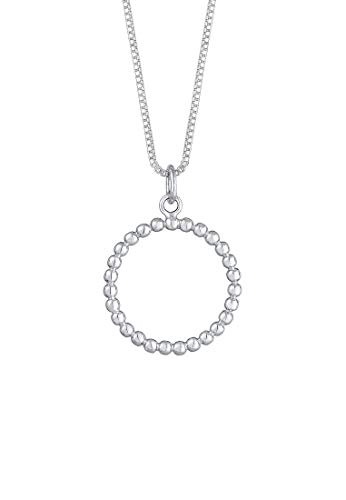 Elli Halskette Damen Box Chain Kreis Anhänger Geo in 925 Sterling Silber