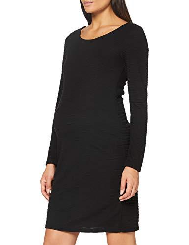 Noppies Dress LS Zinnia Vestido, Negro-P090, XXL para Mujer