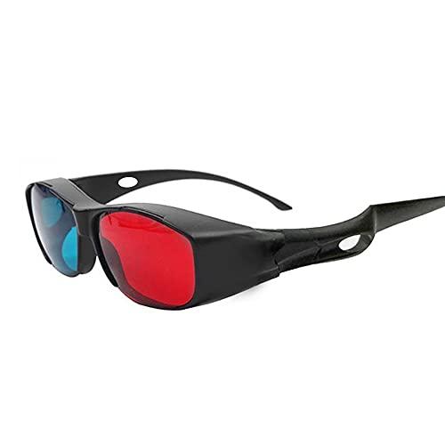 Occhiali 3D Occhiali per uso domestico con lenti rosse blu per film dimensionali DVD Video TV Game Red and Cyan Anaglyph 3D System