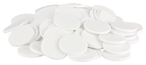 Chip per carrello della spesa, molti colori, utilizzabile come soldi o monete da gioco in plastica riciclata, colore: bianco, dimensioni: 100 pezzi