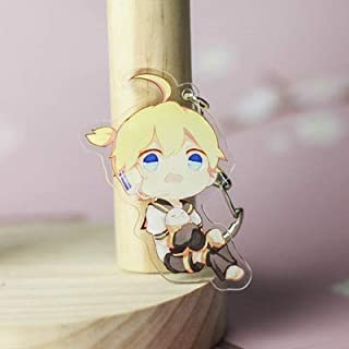EXTOY Anime Vocaloid Kagamine Rin Len Luka Teto Kaito Acrylic Figure Keychain Keyring Decoration Collection Model Toy Must Have Tools Funny Gifts Toddler Favourite Toddler Superhero Unboxing Box