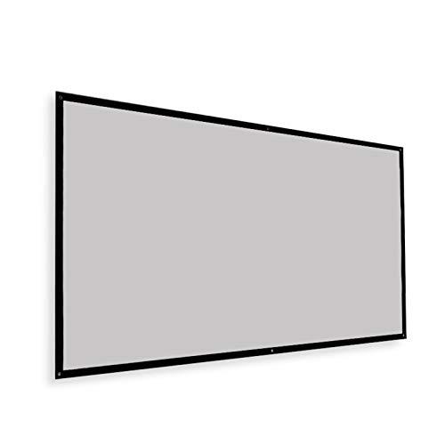 Beamer Leinwand, Tragbares 16: 9 Und 4: 3 Hd 4k Faltbarer Knitterschutz Projektion Leinwand Graue Glasfaser Kino-leinwand Für Zuhause Für Heimkino Indoor Outdoor Screen 120inch 16:9