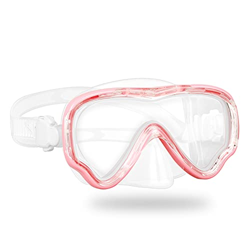 Kids Snorkel Mask Swimming Diving Mask Goggles with Nose Cover, Snorkel Gear Scuba Diving Snorkeling, Anti-Fog Waterproof 180° Clear View Pool Swim Mask for Youth Children Junior Girls Boys Ages 5-15