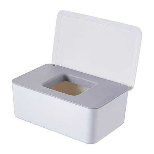 Caja de Almacenamiento de Escritorio Caja de tejido húmedo Sello de escritorio Wipes Baby Wipes Caja de almacenamiento de papel Tenedor del dispensador Polvo a prueba de polvo con tapa Organizador