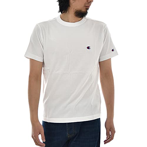 『[チャンピオン] Tシャツ 半袖 綿100% 定番 ワンポイントロゴ刺繍 ショートスリーブTシャツ C3-P300 メンズ ホワイト M』の3枚目の画像