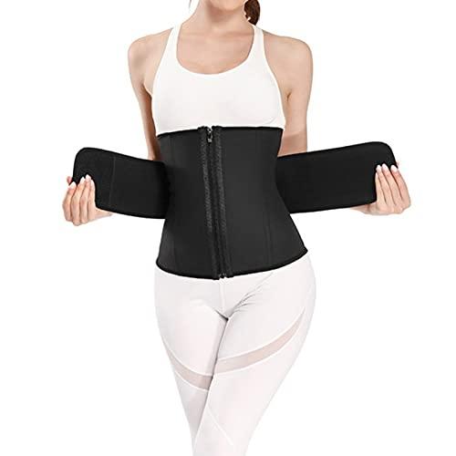 LIUJIU - Manicotti a compressione per braccio da donna, con maniche dimagranti post-chirurgiche, correttore posturale, 6XL, nero (tipo cerniera)