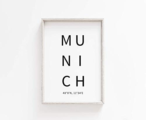 Typo Poster, city-love - Munich