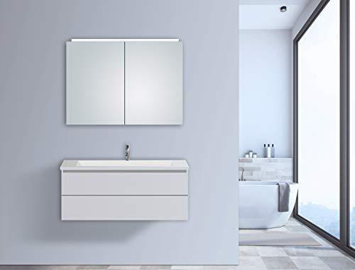 Talos Espejo de luz LED, Glass, Aluminium, Plata, 50 x 70 cm