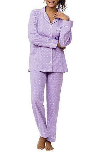 PajamaGram Womens Pajamas So Soft - Cute Pajamas for Women, Lavender, 1X, 16-18