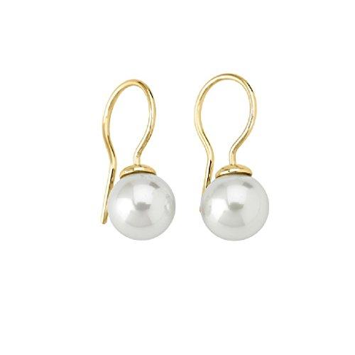 Majorica 09456.01.1.000.010.1 Pendientes de Mujer Plata Chapada Perla 10 mm