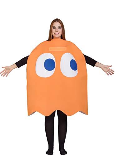 Adult Pac-Man Clyde Costume Orange