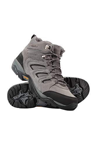 Mountain Warehouse Aspect Herrenstiefel m. Iso-Grip - wasserfeste Wanderschuhe, Phylon-Mittelsohle, Eva-Polster, Wildleder-Mesh-Obermaterial - zum Laufen, Campen, Reisen Dunkelgrau 41