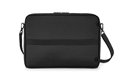 Moleskine - Metro Horizontale Gerätetasche, PC-Tasche für Laptop, Notebook, iPad und Tablet bis 15'', wasserdichte Kuriertasche, Größe 40 x 29 x 6 cm, Schwarz