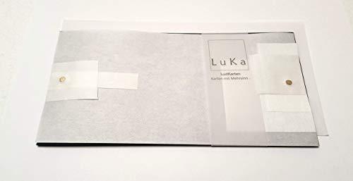 LuKa - Romantische Grußkarte in außergewöhnlichen Design - Japanpapier Handarbeit Kreative Popup Karte Überraschungskarte Kunstvolle Geburtstagskarte Einladungskarte Gastgeschenk 3D Glückwunschkarte