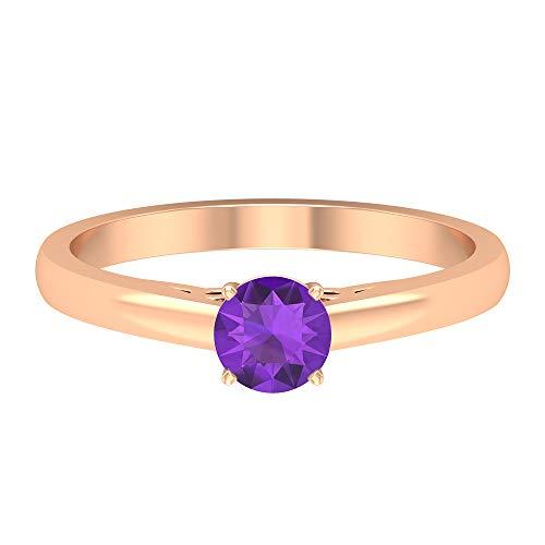 Rosec Jewels 14 quilates oro rosa redonda violeta Amethyst