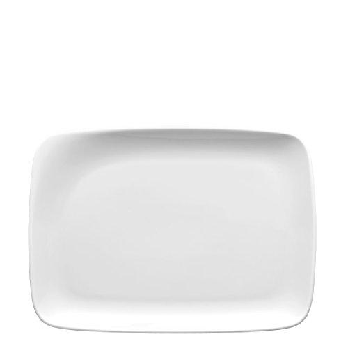 Thomas' Quad Rondo 12928 Plat Carré Fontaine Porcelaine Blanc Passe au Lave-Vaisselle 28 cm