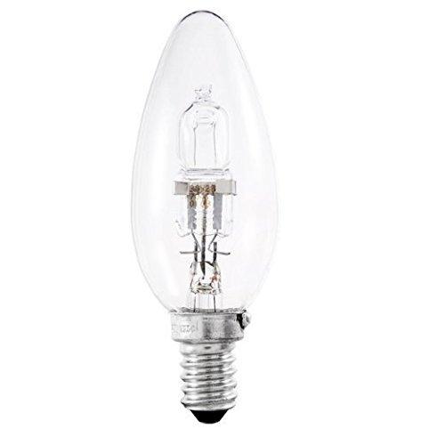 """""""Osram Classic Eco Superstar""""-Leuchtmittel, 46W (= 60W), Kerzenform, SES E14, Halogen, energiesparend, mit kleiner Edison-Schraubfassung, 64543 B, dimmbar, 700Lumen, 240V, 20 Stück"""