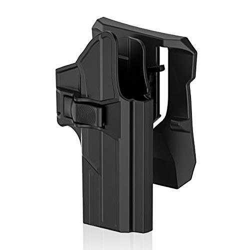 efluky Fondina Glock17/22/31 Pistola Polimero Holster per Glock 17 22 31(Gen1-5), Paddle 360° Regolabile