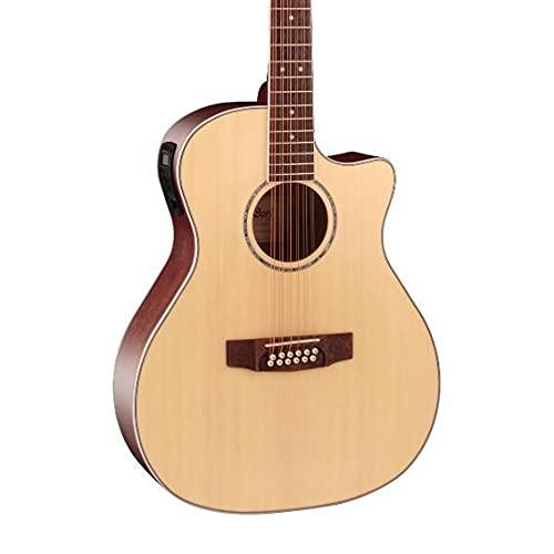 Cort Grand Regal GA-MEDX OP Electro Acoustic Guitar, Open Pore