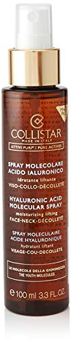 Collistar Attivi Puri Spray Molecolare Acido Ialuronico | Spray idratante liftante per viso, collo e décolleté | Contrasta le rughe e rinfresca il make-up | Per tutti i tipi di pelle | 100 ml