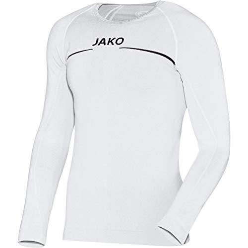 JAKO Longsleeve Comfort - Herren Langarmshirt,weiß (weiß), M
