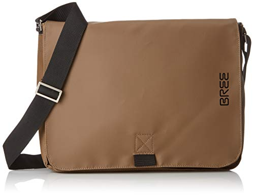 BREE Collection Unisex-Erwachsene Punch 49, Messenger S19 Umhängetasche, Braun  (Clay), 8x28x38 cm