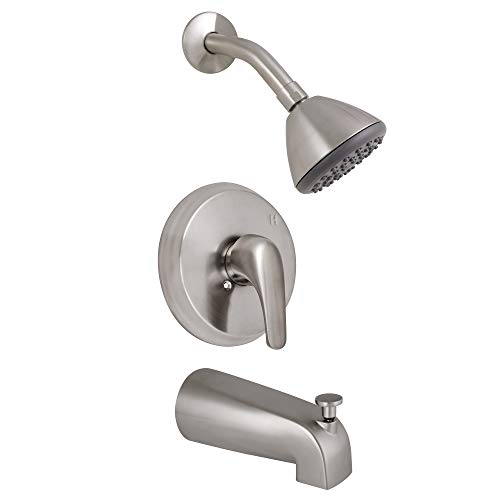 Design House Classic Single Handle Tub and Shower Trim, Satin Nickel