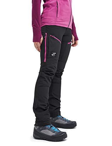 RevolutionRace Damen GPX Pro Pants, Hose zum Wandern und für viele Outdoor-Aktivitäten, Grey/Pink, 38