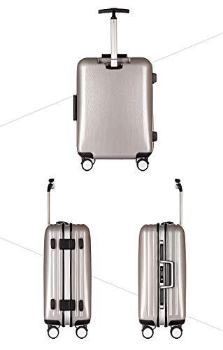 AHJSN 22/25 / 29 Pulgadas Moda Trolley Marco de Aluminio Equipaje de Viaje ABS + PC Maleta aduana Cerradura Caja de embarque Comercial 22 Pulgadas Espacio Plata