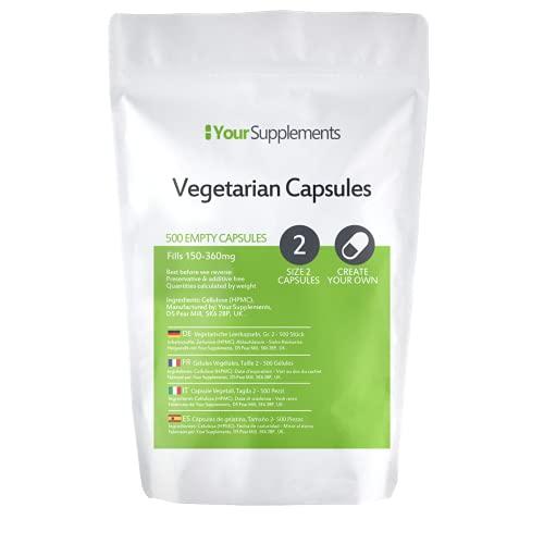 Lege vegetarische capsules   Maat 2 (500)
